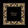 Baroque ornate frame Royalty Free Stock Photo