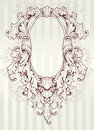 Baroque oval frame Royalty Free Stock Image
