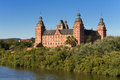 Baroque palace johannisburg at the main river bavaria germany Stock Photography