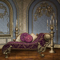 Baroque palace room with luxury furniture in a Stock Photo