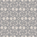 Baroque pattern seamless beige on grey vector illustration Royalty Free Stock Images