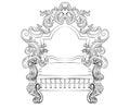 Baroque Rococo Armchair
