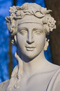 Baroque sculpture bust of a young woman Royalty Free Stock Photo