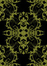 Baroque seamless gold black Stock Photography