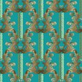 Baroque seamless pattern. Floral striped vector blue background Royalty Free Stock Photo
