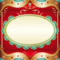 Baroque square frame a greeting card for your event Stock Photography