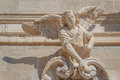 Baroque statue of angel decorating the facade of church Royalty Free Stock Photo