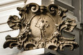 Baroque stone cartouche on the corner of the house in Bratislava Royalty Free Stock Photo