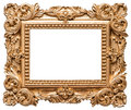 Baroque style golden picture frame. Vintage art object