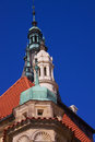 Baroque towers on manor house in praque czech republic Royalty Free Stock Photography