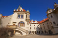 Baroque towers on manor house in praque czech republic Royalty Free Stock Images