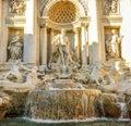 Baroque Trevi Fountain (Fontana di Trevi) in Rome- Italy