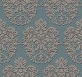 Baroque Vintage floral pattern element