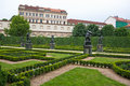 Baroque wallenstein garden at mala strana Royalty Free Stock Photo