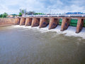 Barrage de Mae Klong Photo stock