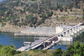 Barragem do Carrapatelo in Douro river, Portugal Royalty Free Stock Photos