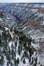 Barranca magnífica en invierno Imagen de archivo
