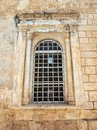Barred Window, Old Orthodox Church, Jerusalem Royalty Free Stock Photo