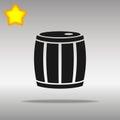 Barrel black Icon button logo symbol