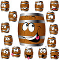 Barrel cartoon Stock Image