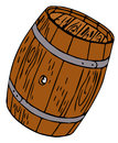 Barrel drawing isolated on a white background Royalty Free Stock Photos