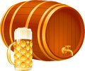 Barrel glass beer small set for a holiday of oktoberfest a and a with eps Royalty Free Stock Photography