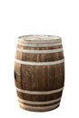 Barrel isolated on white oak barrels background Royalty Free Stock Photo
