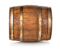 Barrel made of wood isolated on a white background Stock Photography