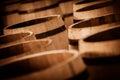 Barrel making in bordeaux wineyard france Royalty Free Stock Image