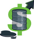 Barrel of Oil - Price Up Stock Photography
