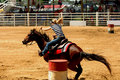 Barrel Racing Royalty Free Stock Photo