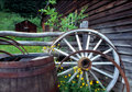 Barrel & Wagon Wheel Stock Image