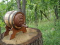 Barrel wine Royaltyfri Foto