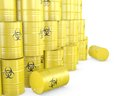 Barrels with biohazard symbol Royalty Free Stock Photo