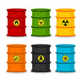 Barrels with dangerous substances illustration format eps Stock Photo