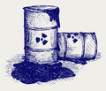 Barrels with nuclear waste Royalty Free Stock Photography