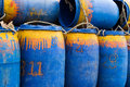 Barrels of oil tank fishing boat Stock Photos