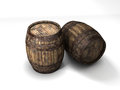 Barrels old wooden for whiskey Stock Images