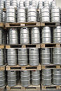 Barrels at an open storage Royalty Free Stock Photo