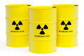 Barrels with radioactive materials Royalty Free Stock Images
