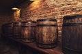 Barrels In The Wine Cellar