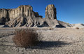 Barren beauty the in the gray wilderness of the utah high desert Royalty Free Stock Photos