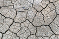 Barren earth. Dry cracked earth background. Cracked mud pattern. Royalty Free Stock Photo