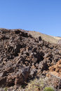 Barren land volcanic landscape with traces of lava streams teide national park tenerife canary islands spain Stock Photography
