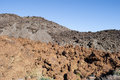Barren land volcanic landscape with traces of lava streams teide national park tenerife canary islands spain Royalty Free Stock Photo