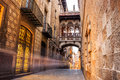 Barri Gotic quarter of Barcelona, Spain Royalty Free Stock Photo