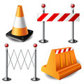 Barricade item set Royalty Free Stock Photography