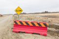Barricade road sign with a red Royalty Free Stock Photography