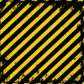 Barricade tape yellow black grunge Stock Photos