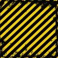 Barricade tape yellow black grunge Stock Photos
